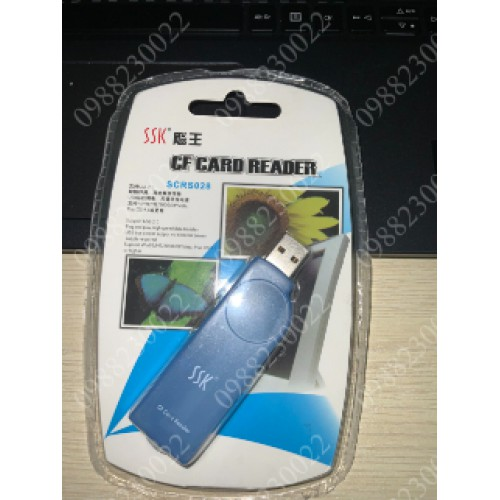 Đầu Đọc Thẻ Nhớ CF Hiệu SSK SCRS028 USB 2.0 (DDTECH)